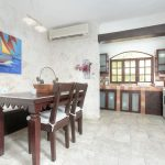 Los corales condo dining room/kitchen