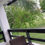 cocotal condo for rent terrace overlooking pool and golf