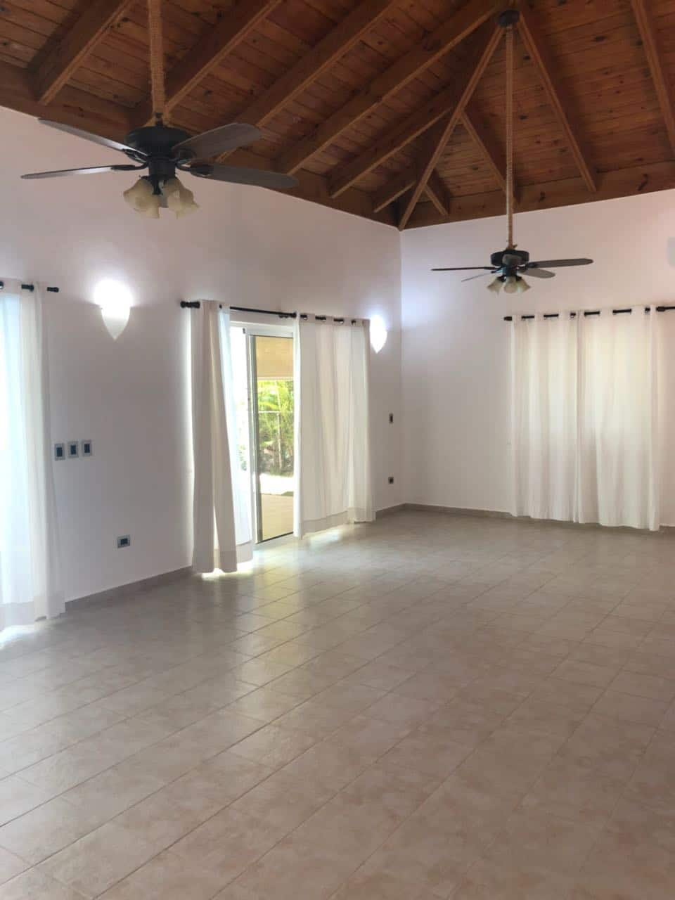 punta cana villa for rent living room